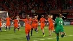 Os gols de Holanda 3 x 0 Inglaterra pela semifinal da Euro de futebol feminino