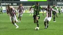 O gol de América-MG 1 X 0 Náutico pela Série B do Brasileirão