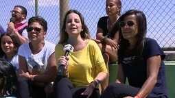 Parentes e amigos acompanham as finais da Taça das Favelas