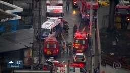 Dez pessoas ficam feridas em acidente na cidade de Guarulhos