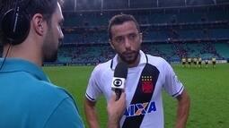 """Nenê analisa partida contra o Bahia e momento do Vasco: """"O time tem que melhorar"""""""