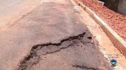 Cratera em avenida de Araçatuba é consertada após dois meses
