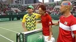 Pontos finais de Go Soeda 3 x 2 Thiago Monteiro pela Copa Davis