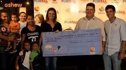 Muita alegria na entrega das doações da campanha Fortal Solidário