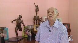 Personagens do futebol amazonense homenageiam Amadeu Teixeira, que está na UTI