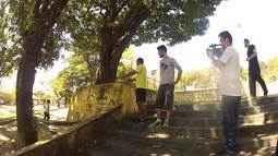 Rovany Araújo foi desafiado a praticar le parkour (Parte 2)