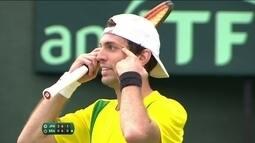 Tenista brasileiro é punido por gesto antidesportivo na Copa Davis