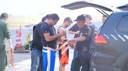 Esquema de segurança é montado em aeroporto para receber chefes de tráfico detidos pela PF