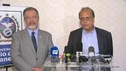 Pezão e Jungmann anunciam projeto social de segurança