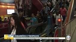 Campanha conscientiza passageiros do Metrô para diminuir acidentes