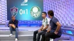 Egídio comenta o seu gol e a meta do Palmeiras para o restante do campeonato Brasileiro