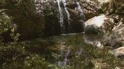 Sem receber chuva há 2 meses, cachoeiras de Águas da Prata, SP, praticamente secam