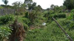 Moradores vivem 'ilhados' com péssimas condições na rua Pau Brasil do bairro Floresta