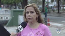 No Outubro Rosa, evento em Santos lembra dos cuidados com o câncer de mama