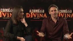 Atores falam sobre o filme 'A Divina Comédia', que está sendo lançado em todo o Brasil