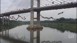 Por recorde, 245 pessoas saltam de ponte estaiada em Hortolândia