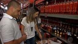 A Franciane foi às compras com o chef Marcílio Galeano