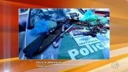 Dupla é presa por crimes ambientais e porte ilegal de arma em Tabatinga