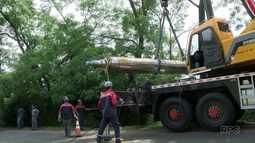 Operação especial retira bobina de metal que se soltou de caminhão e matou adolescente