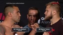 Fabrício Werdum e Marcin Tybura passam pela pesagem do UFC Austrália
