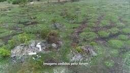 Funcionários do Ibram usam drone para tentar barrar as invasões em áreas verdes no DF