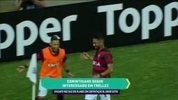 Eric Faria diz que Corinthians está interessado no atacante Tréllez, do Vitória