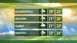 Veja como fica a previsão do tempo em cidades do interior do Tocantins
