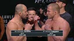 UFC: Veja como foi a pesagem de Glover Teixeira x Misha Cirkunov