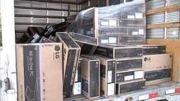 Guarda apreende caminhão com centenas de computadores roubados em Jundiaí