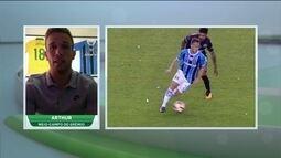 Arthur diz que sonha em jogar em um grande europeu um dia, mas está concentrado no Grêmio