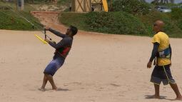Pablo Vasconcelos enfrenta o kitesurf, no Desafiando