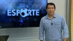 Kako Marques apresenta as notícias do esporte nesta terça-feira