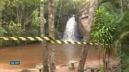 Cachoeira do Caiado, no Sul do ES, é interditada após homem morrer afogado