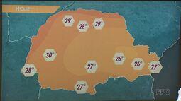 Fim de semana será com calor e chuva, no Paraná