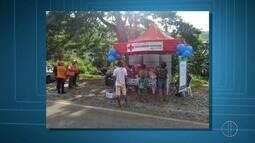 Mais de 300 fracos de repelentes foram distribuídos no domingo em Nova Friburgo, RJ