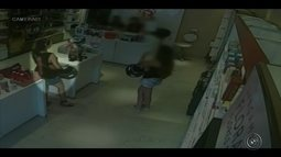 Câmera flagra grávida furtando loja de perfumes em Itapetininga