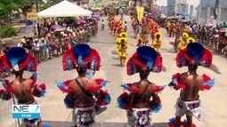 Grupos de caboclinhos enchem carnaval de Goiana de cores e ritmos