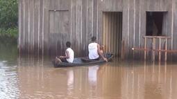 Em Apuí, 54 famílias são afetas com subida do nível de rio