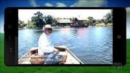 Telespectador mostra lago onde cria espécies em Matrinchã, Goiás