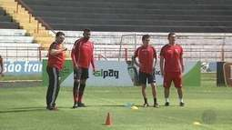 Botafogo-SP faz último treino antes de jogo contra o São Bento