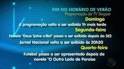 Fim do Horário de Verão altera programação da TV Sergipe