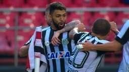 O gol de São Paulo 0 x 1 Santos pela 8ª rodada do Campeonato Paulista 2018
