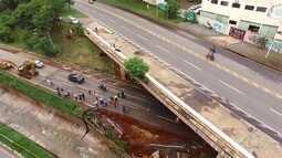 Peritos percorrem a Marginal Botafogo para tentar encontrar soluções para a via