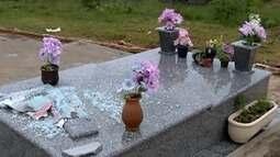 Cemitérios são alvos de vandalismo na região de Presidente Prudente