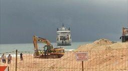 Cabo submarino que liga Brasil a Angola chega à Praia do Futuro