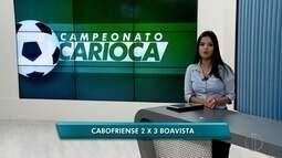 Boavista vence a Cabofriense de virada nesta quinta (22) pela primeira rodada da Taça Rio