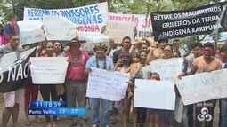 Indígenas protestam por cumprimento dos direitos, em Porto Velho