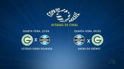 Sorteio define Goiás como adversário do Grêmio nas oitavas de final da Copa do Brasil