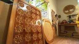 Terra de Minas apresenta artista que faz trabalhos geométricos em madeira