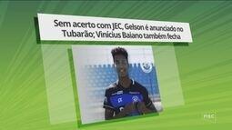 Mercado da bola: Sem acerto com JEC, Gelson é anunciado no Tubarão